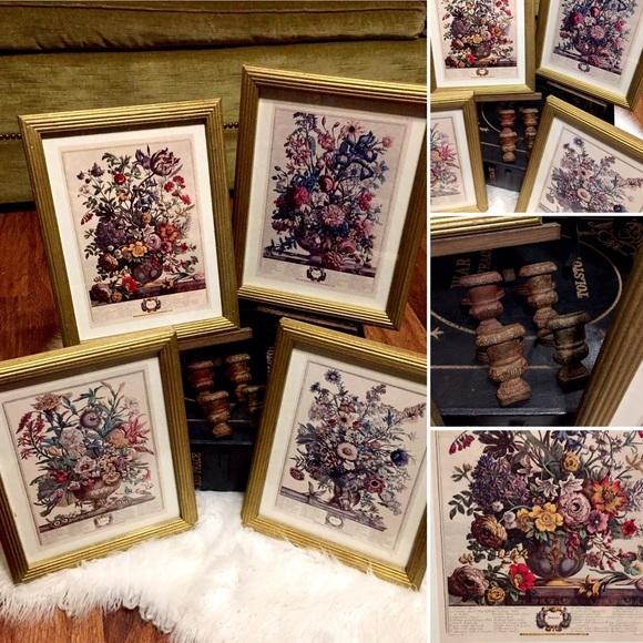 Vintage Seasons Picture Decor Set